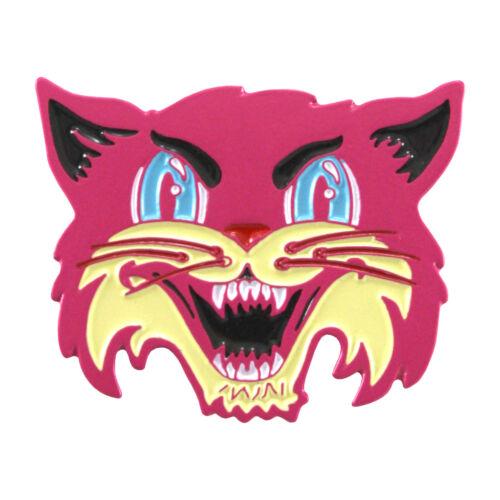 Pink Cat enamel pin- feminist