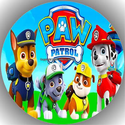 Fondant Tortenaufleger Tortenbild Geburtstag Paw Patrol T7  ( 1 )