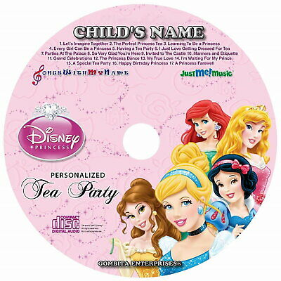 Gombita Enterprises® DISNEY PRINCESS PARTY Name Personalized Children CD & MP3