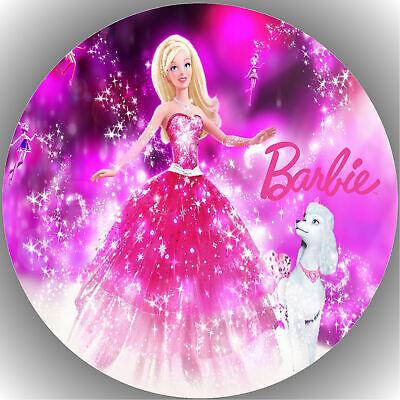 Tortenaufleger Geburtstag Party Tortenbild Fondant - Oblate Barbie  P4
