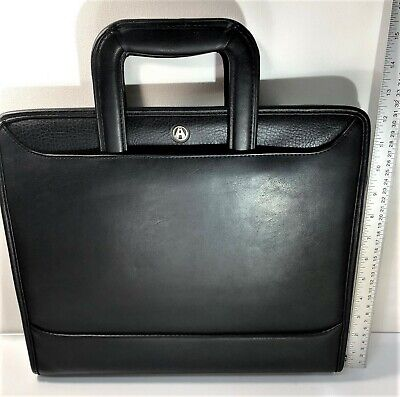 Avenues Planner Briefcase Tuscany Black Zipper 3 Ring Binder