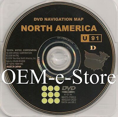 Only 2011 Toyota Avalon / Sienna / Highlander / Navigation DVD Map U.S / Canada