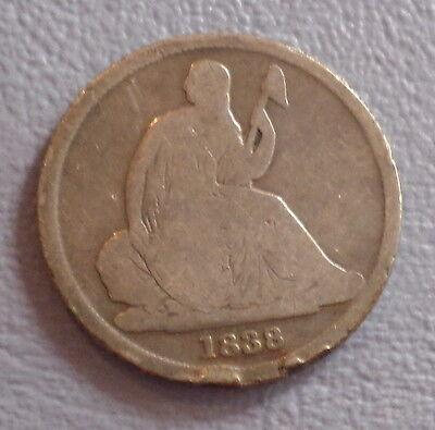 USA US COIN 1 DIME 1838 O    VARIETY 1  VG