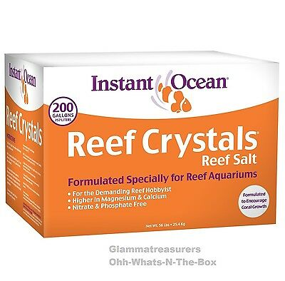 Sea Salt Aquarium Mix Instant Ocean Fish Tank Reef Crystals Coral Algae 200 Gal