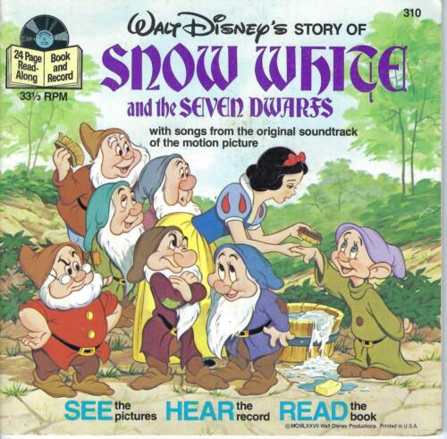 Disney  Record with story book -   Snow White 1977