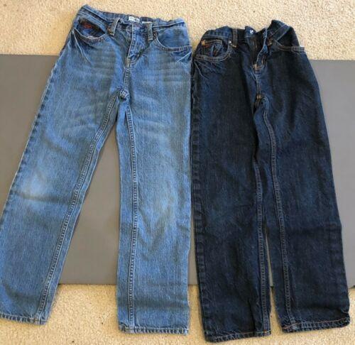 2 PAIR Boys Size 10 Regular Osh Kosh Jeans. Straight leg. Adjustable waist.