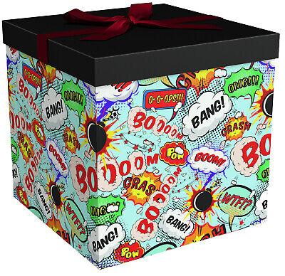 Gift Box - Gift Boxes with Lids - Big Bang Comic Book Box - EndlessArtUS (Big Boxes)