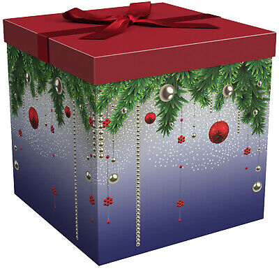 Large Gift Boxes with Lids - Christmas Gift Boxes - Silent Night - EndlessArtUS - Christmas Boxes