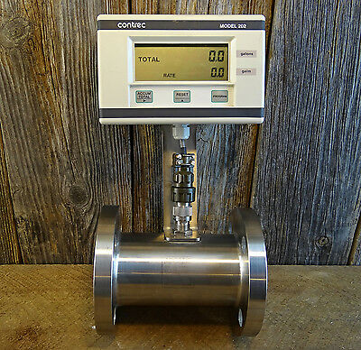 Contrec 202di.20 Programmable With Apollo Stainless Rn4 Axial Turbine Flowmeter