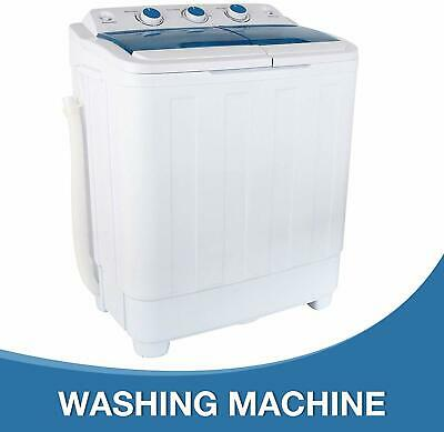 17Ibs Top Load Washing Machine Compact Twin Tub Washer & Spiner Dryer Portable