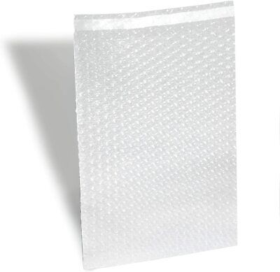 100 4x7.5 Bubble Out Pouches Bags Wrap Cushioning Self Seal Clear 4 X 7.5