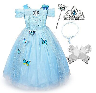 Princess Costume Accessories (Cinderella Crystal Princess Party Costume Dress with)