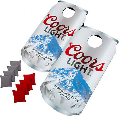 Coors Lite Can Bean Bag Toss Cornhole Corn Hole Game Boards Travel Portable BBQ ()