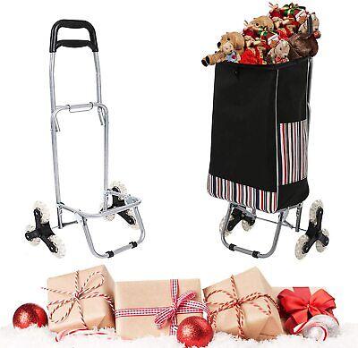 Folding Shopping Cart Trolley Lightweight Stair Climbing Utility Cart Groceryus