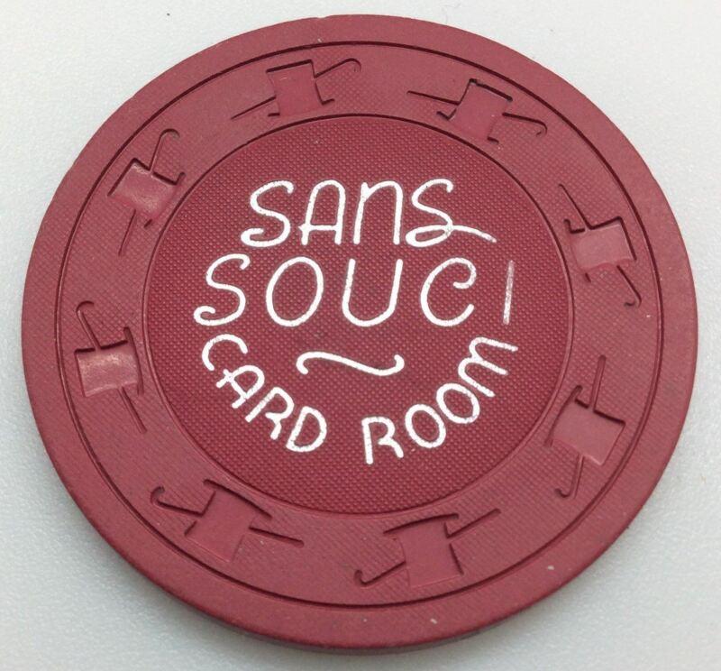 Sans Souci Casino Las Vegas 25 Cent Card Room Chip 1960