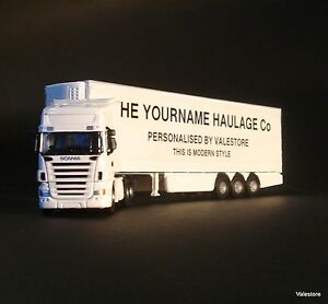 SCANIA Diecast Model Truck Lorry Van | Personalised & Customised with your Name