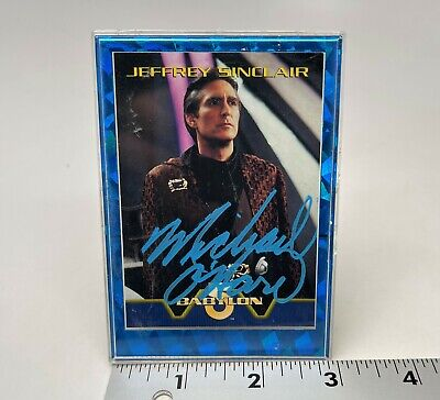 Skybox - Babylon 5 Jeffrey Sinclair Card - Signed by Micheal O'Hare