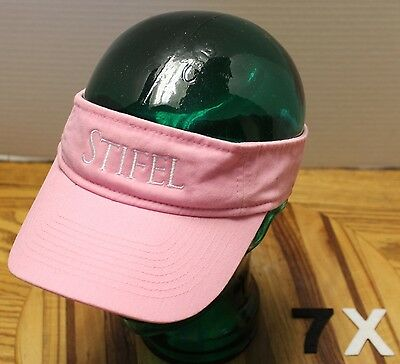 Womens Pink Stifel Visor Adjustable In Very Good Condition