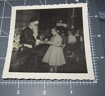 SANTA Claus School Children Christmas Costume Snowman Vintage Snapshot PHOTO #1](Kids Santa Claus Costume)