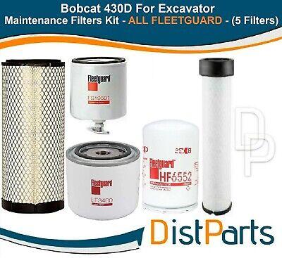 Bobcat 430d For Excavator Filters Kit All Fleetguard 5 Filters