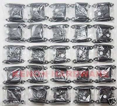 Lot of 25 Pairs (50pcs) Self Closing Flush OVERLAY Cabinet  Hinges - Black
