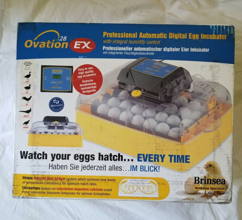 NEW Brinsea Ovation 28 EX Automatic Digital Egg Incubator Poultry