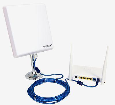 AKTIV-ANTENNE MELON WIFISKY 2000 mW + 36 dBi + 5 m + ROUTER WI-FI