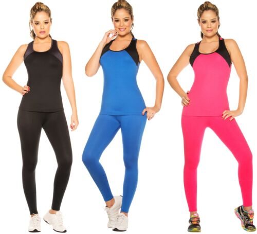 Women's Gym Outfit 2 Piece Sportswear Set Tank Top and Fitte