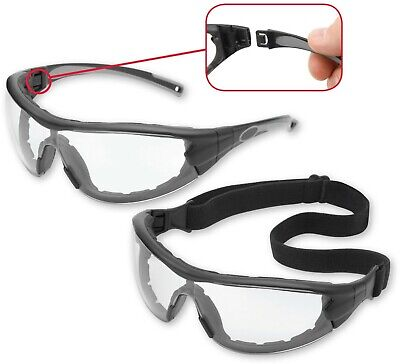 Gateway Swap Clear Lens Foam Padded Safety Glasses Hybrid Goggles Z87