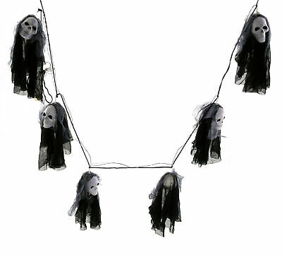 Halloween Lights 6 Ghosts (5 11/12ft) Skull Lampinion Garland Decoration