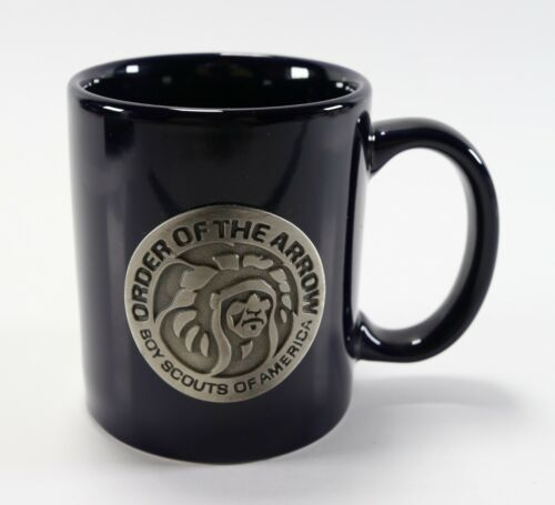Vtg Blue Order of the Arrow Pewter OA WWW Boy Scouts of America Coffee Mug Cup
