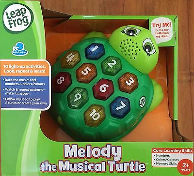 NEW LEAP FROG MELODY THE MUSICAL TURTLE ~ EDUCATIONAL TOY ~ NUMBERS, COLOURS