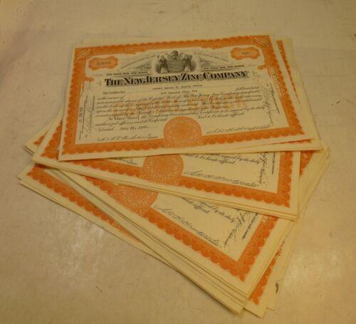 1940s DEALERS WHOLESALE LOT/25 NEW JERSEY ZINC COMPANY NJZCO MINE STOCK ORANGE