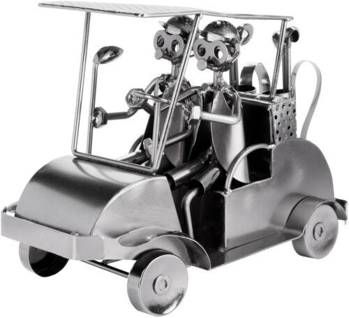 BRUBAKER Nuts and Bolts Sculpture Golf Cart - Handmade Metal Man Figure Golf