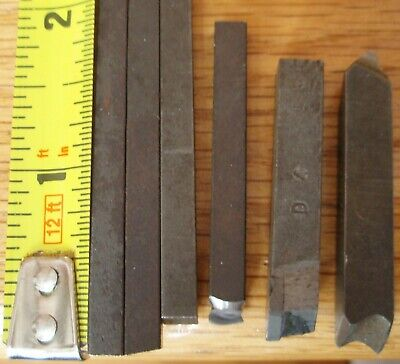 Metal Lathe Cutting Tools Bits Lot Of 6
