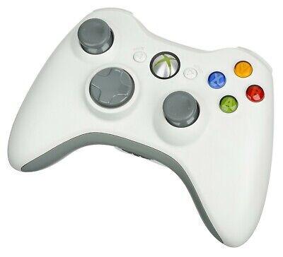 Official Microsoft Xbox 360 WHITE Wireless Controller Gamepad Windows PC gaming