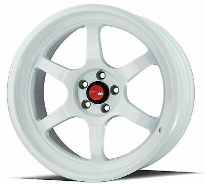 18 Inch Aodhan Ah08 White Wheels 18x9.5 +30 5x114.3 Rims Set 4