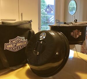 Harley Davidson Charcoal Barbecue Grill Portable