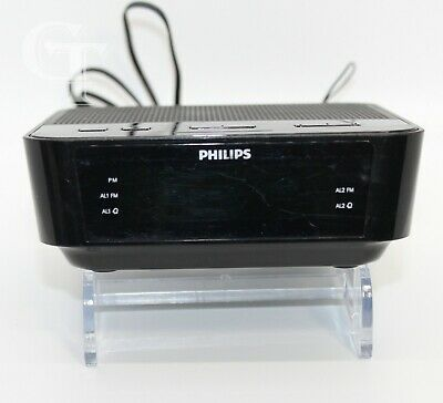Philips Digital Alarm Clock FM Radio Model AJ3116M/37 * TESTED & WORKING *