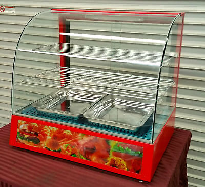 New Heated Glass Display Case Counter Top Uniworld Dn-ch3 2295 Hot Food Warmer