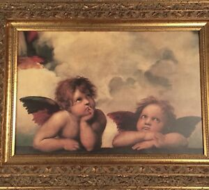 Excellent condition angel picture & frame