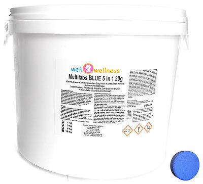 Kleine Multitabs BLUE 5in1 20g / blaue Multitabs über 90% Aktivchlor 10 kg 2x5Kg Kleine Tabs