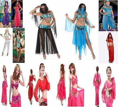 ARABIAN NIGHTS HAREM BELLY DANCER GENIE PRINCESS JASMINE ALADIN COSTUME - Aladin Costumes