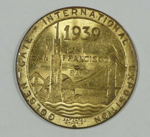 1939 Golden Gate Int. Expo China Clipper Spinner Medal AU