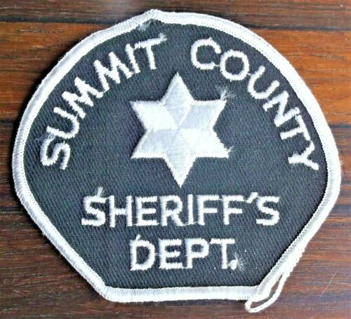 GEMSCO NOS Vintage Patch - SHERIFF SUMMIT COUNTY CO - 45+ year old