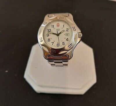 Victorinox Swiss Army All Stainless Steel Women's 1884 Field Watch Keeping Time
