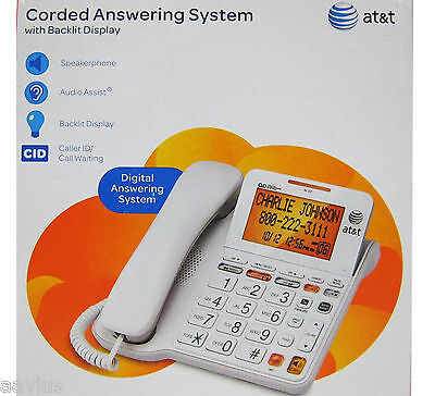 AT&T Big Button Wall Mount Hearing Aid Compatible Phone S...