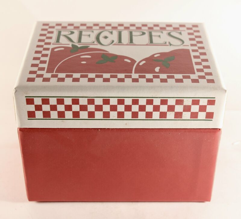 "1984 Vintage Hallmark ""Tomato"" Recipe Box. Made In U.S.A!"