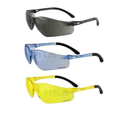 Titus G3 Hi Mass Velocity Z87 Safety Glasses Shooting Motorcycle Eye Protection