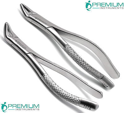 Dental Extracting Forceps 150s 151s Surgical Tooth Extraction Tools Set Of 2